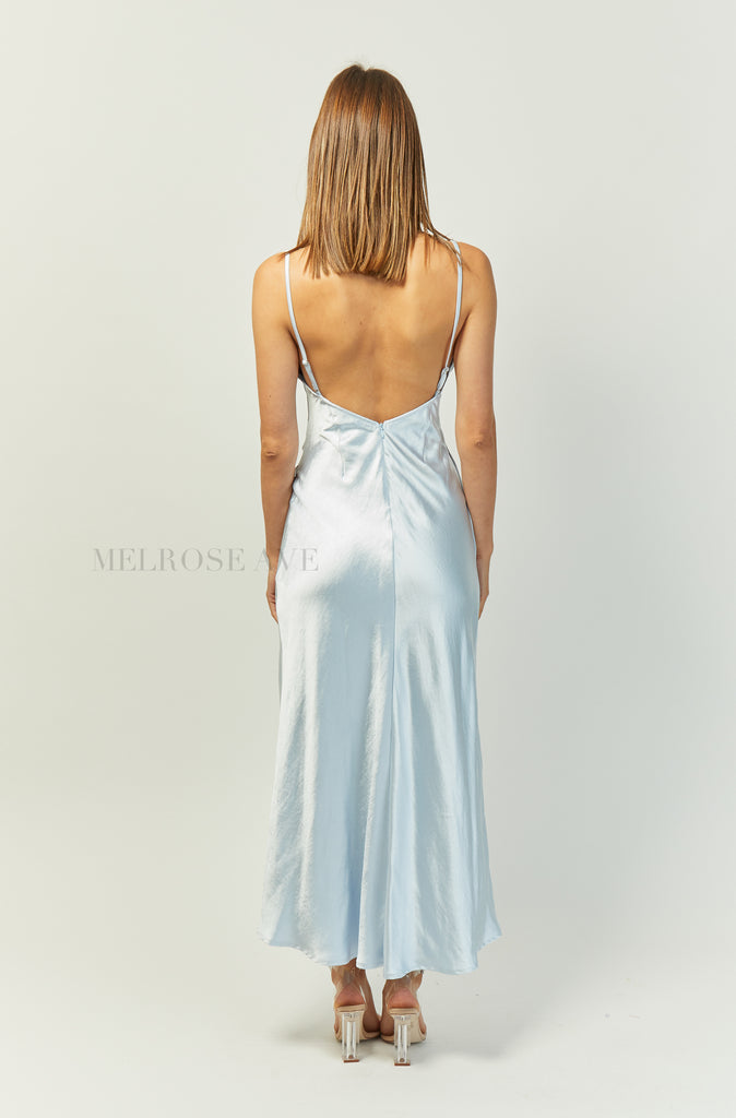 Evangeline Midi Slip Dress | Blue