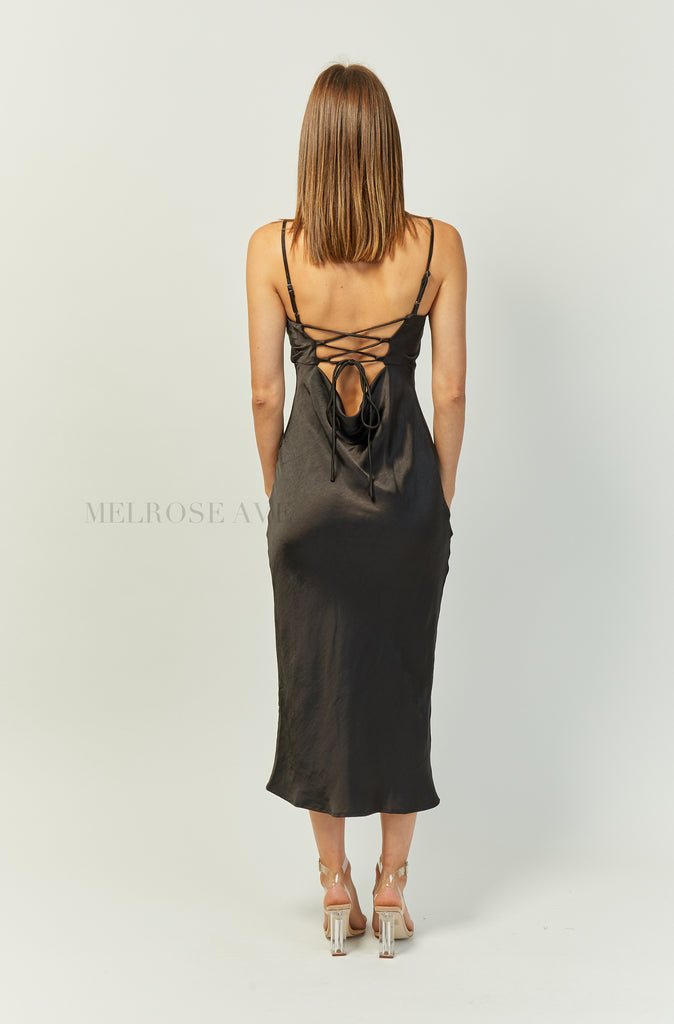 Sierra Midi Dress | Black