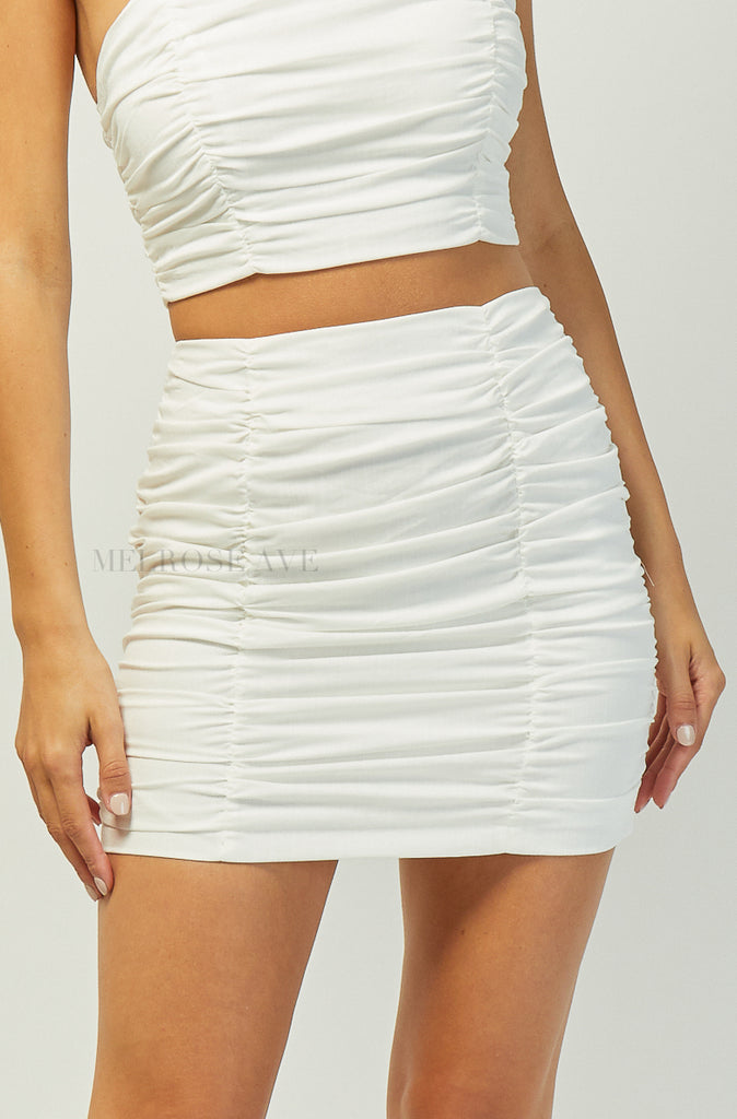 Anna Mini Skirt | White