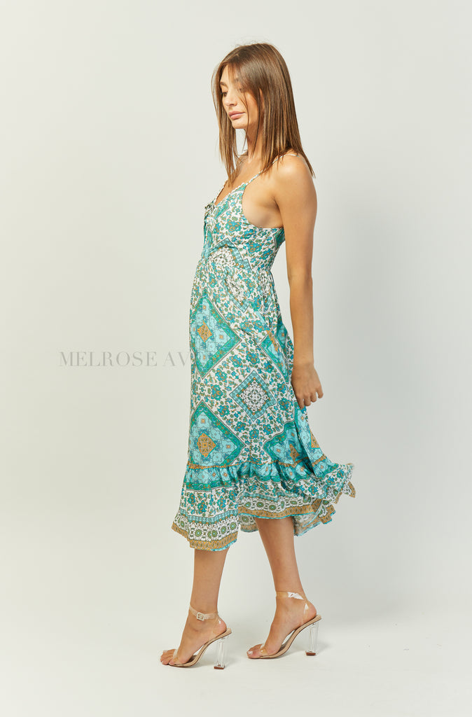 Eden Midi Dress | Emerald