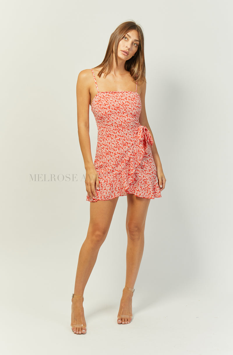 Calia Mini Dress | Red | Floral