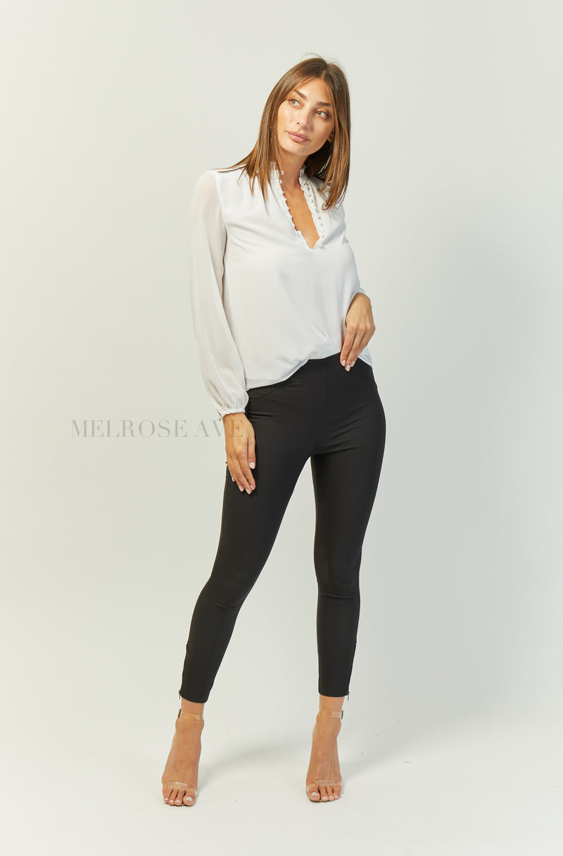 Leslie Blouse | White
