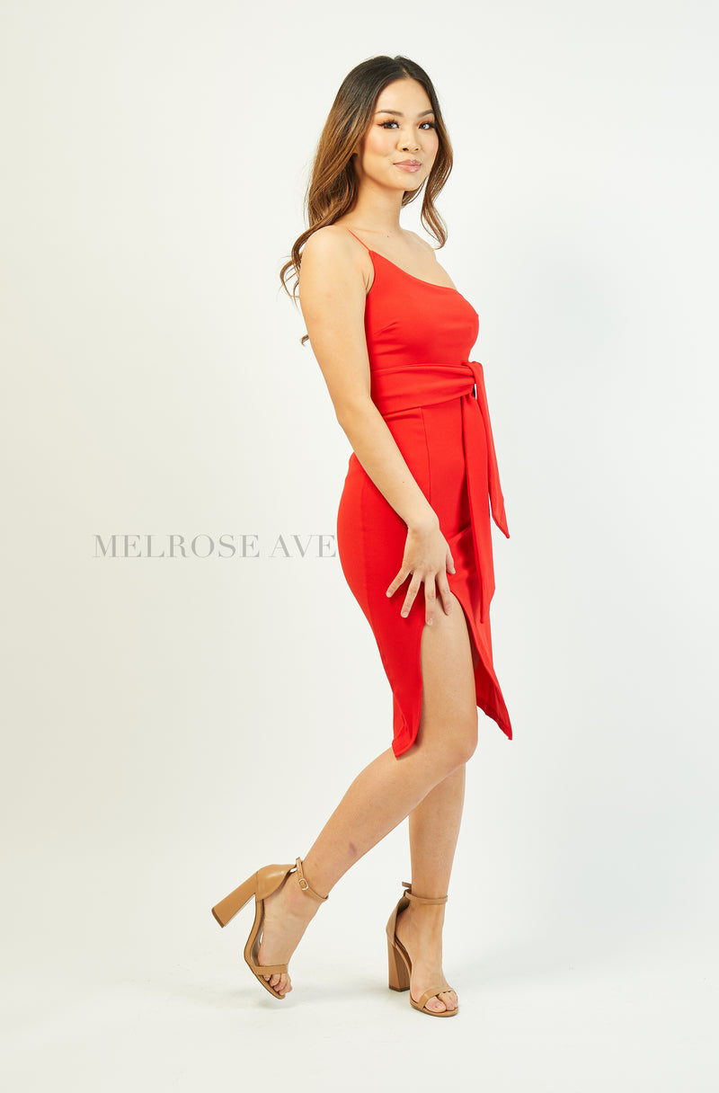 Ashley Midi Dress | Red