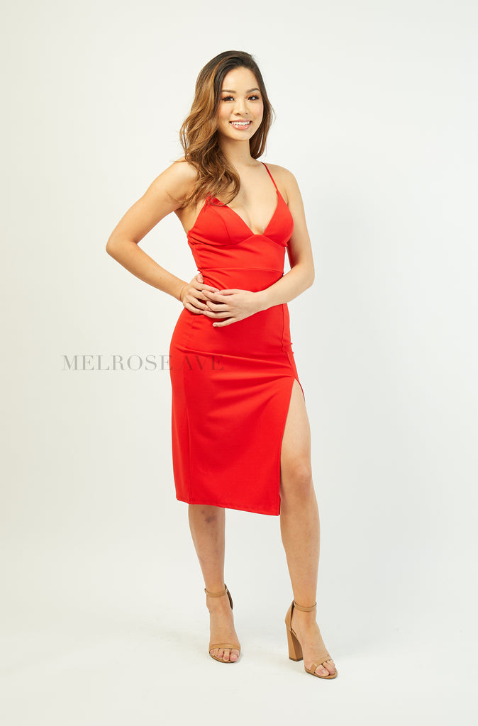 Lexi Midi Dress | Red