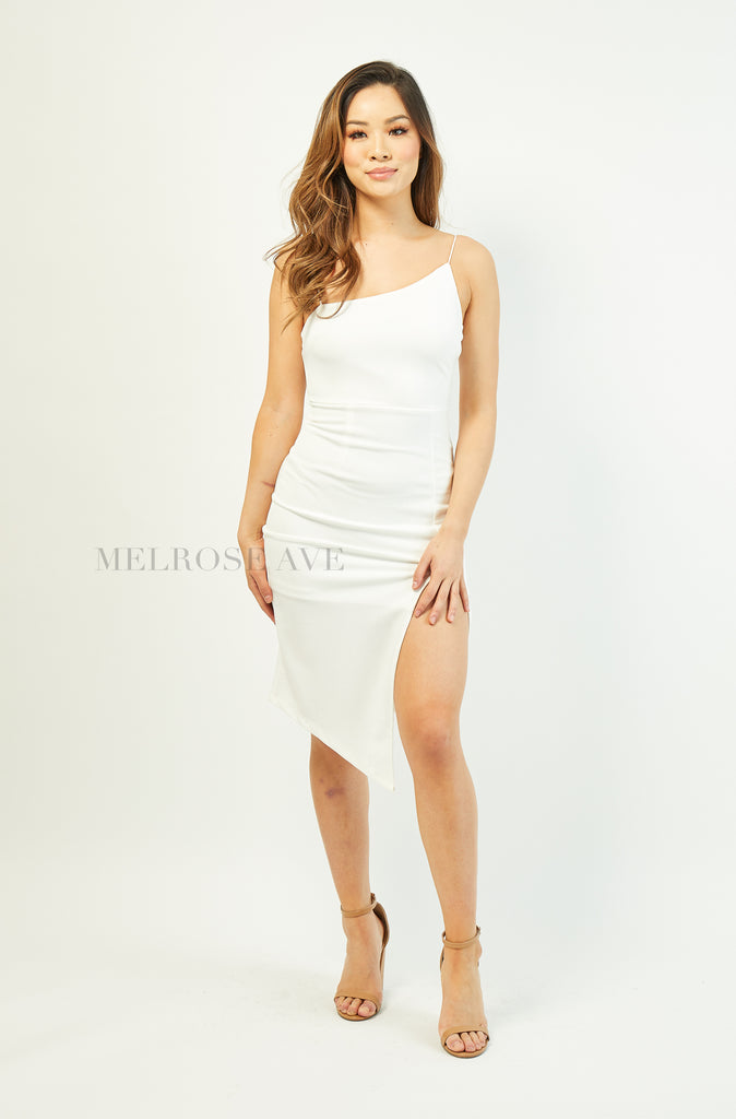 Jada Midi Dress | White