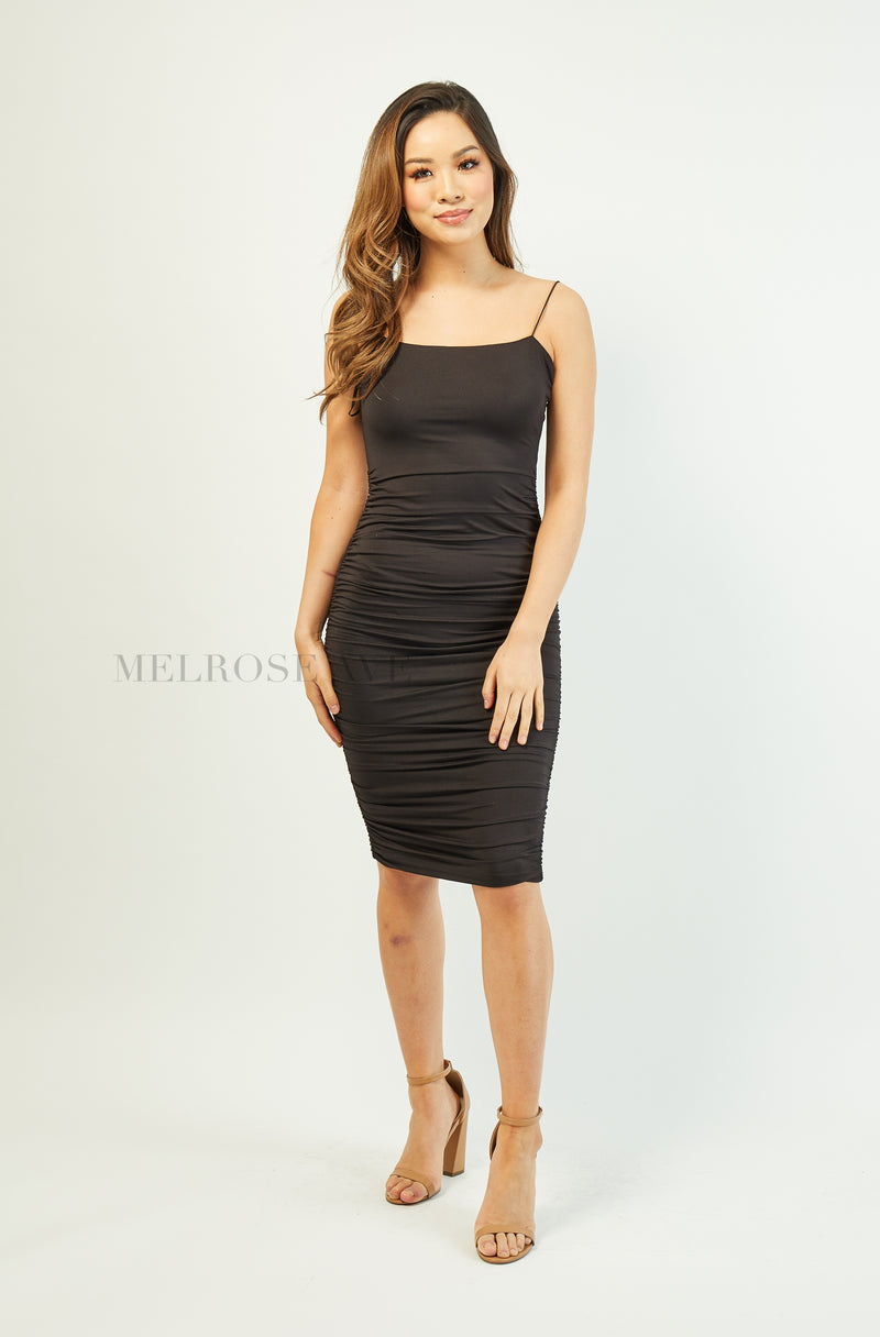 Selina Bodycon Midi Dress | Black