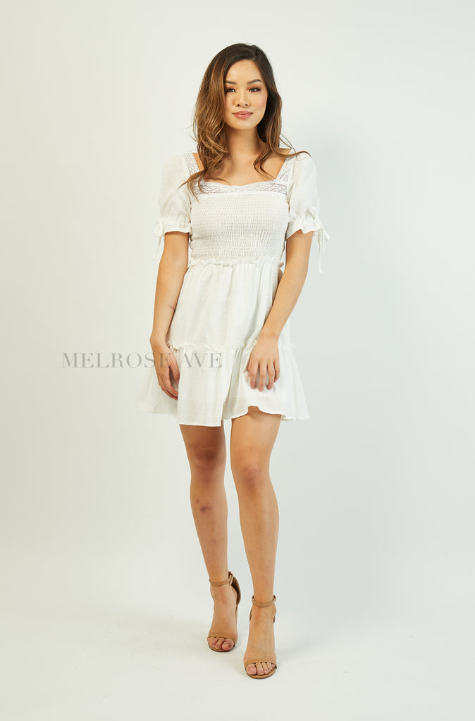 Angela Mini Dress | White