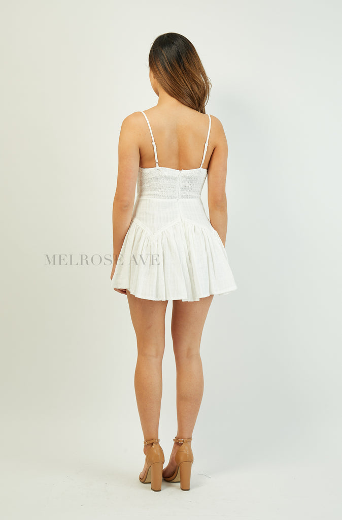 Harlow Playsuit | White