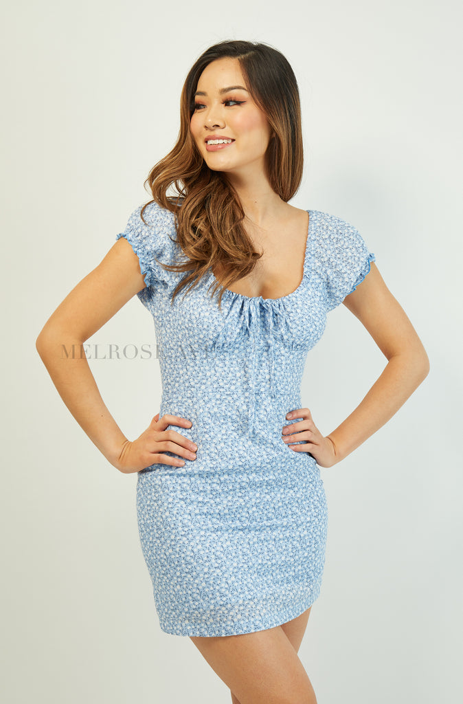 Claudia Mini Dress | Blue