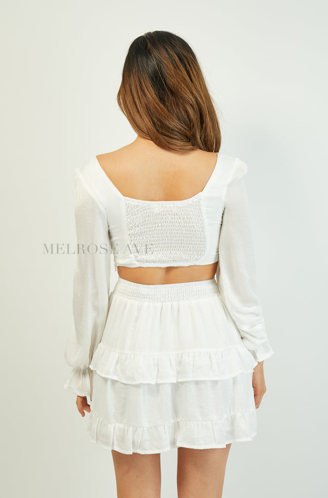 Kaia Crop Top | White