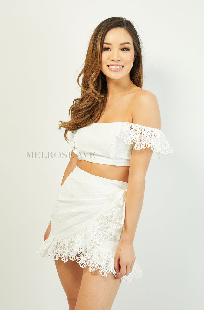Rayna Mini Skirt | White