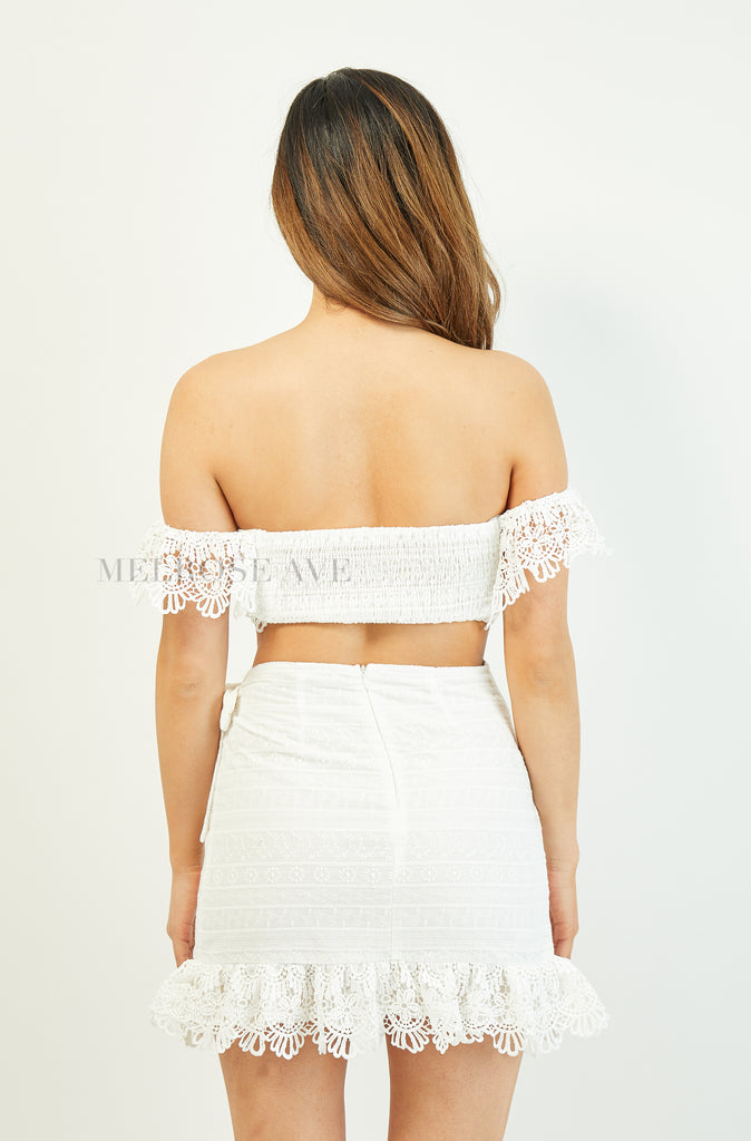 Rayna Crop Top | White