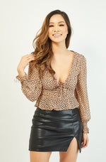 Uma Crop Top | Animal Print