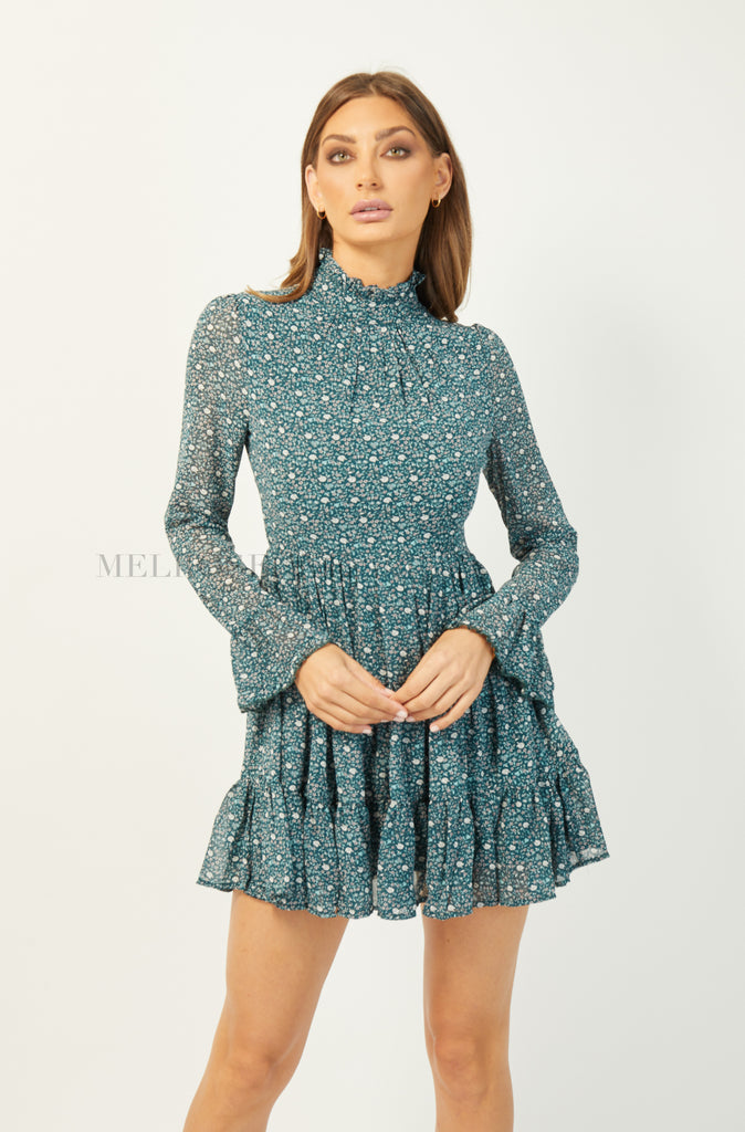 HARPER MINI DRESS | GREEN