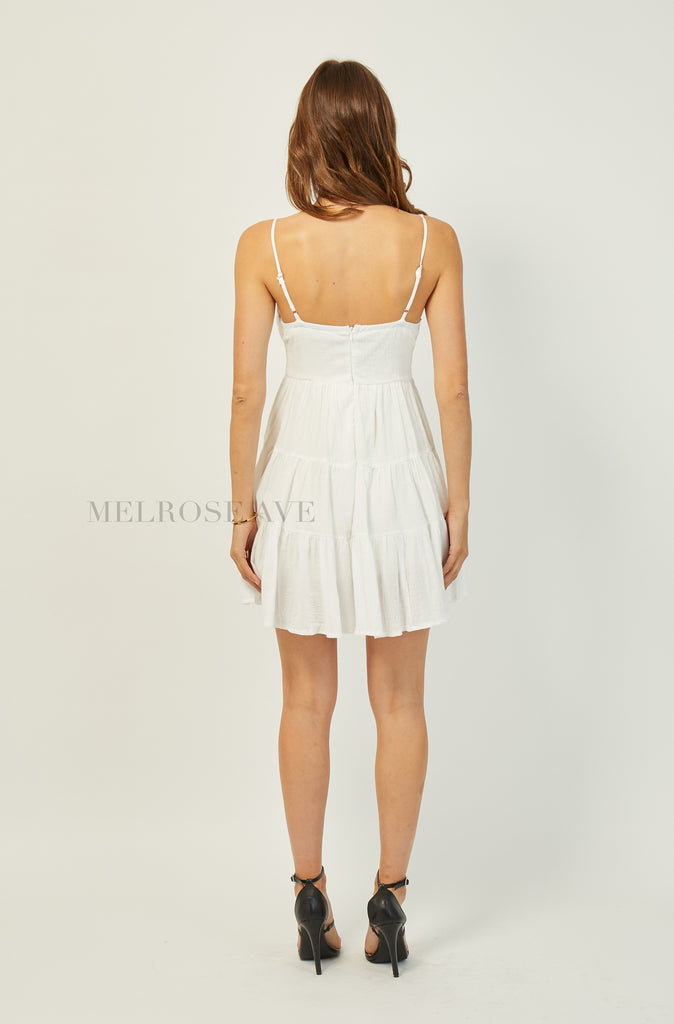 Felicia Mini Dress | White