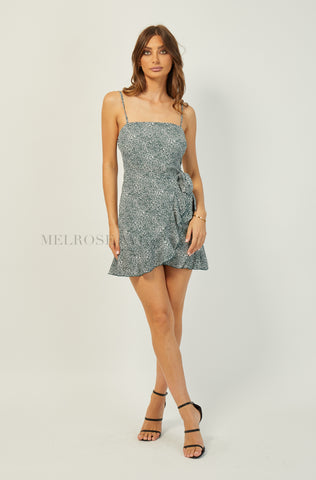 Rumi Mini Dress | Charcoal | Floral