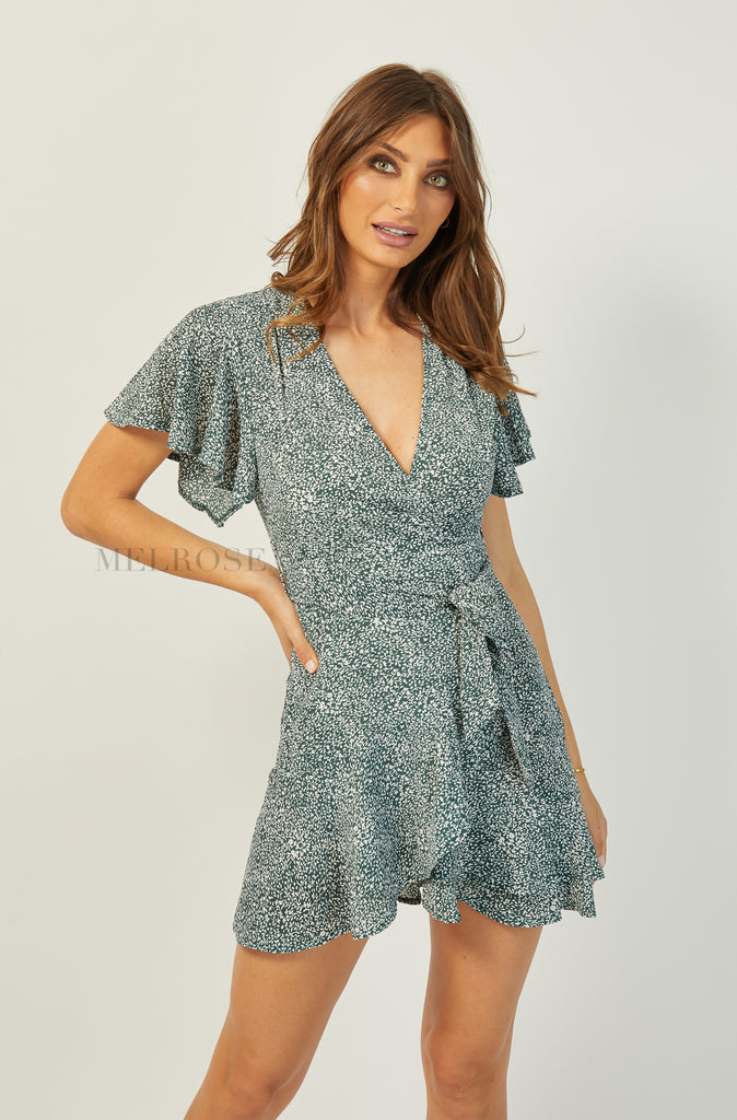 Jules Mini Wrap Dress