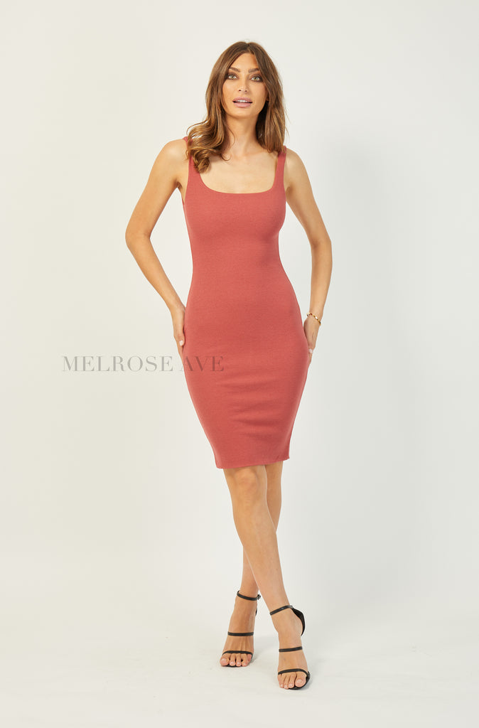 Winona Bodycon Dress | Dusty Pink