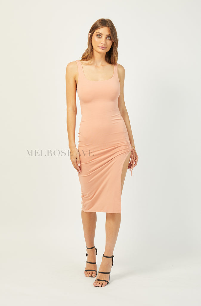 Shanann Bodycon Dress | Peach