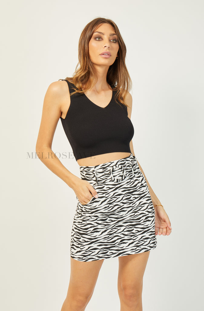 Sophie Crop Top | Black