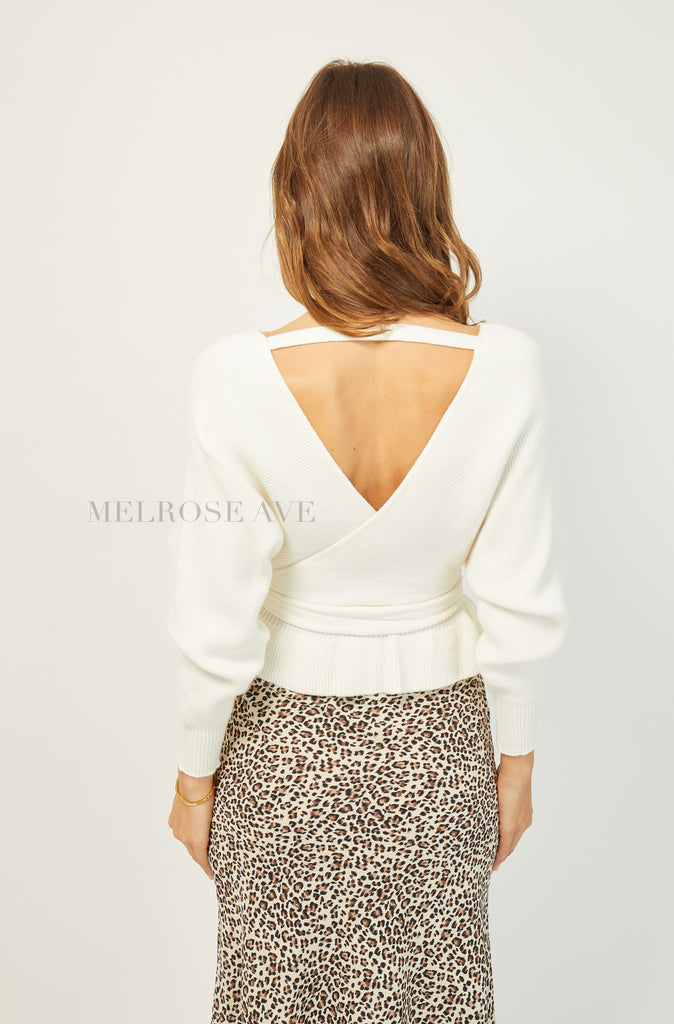 Debbie Knit Top | White