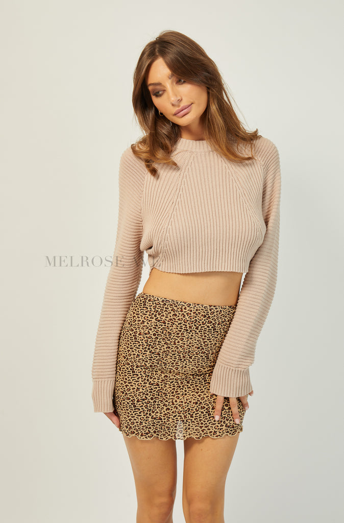 Blake Knit Crop Jumper | Cream