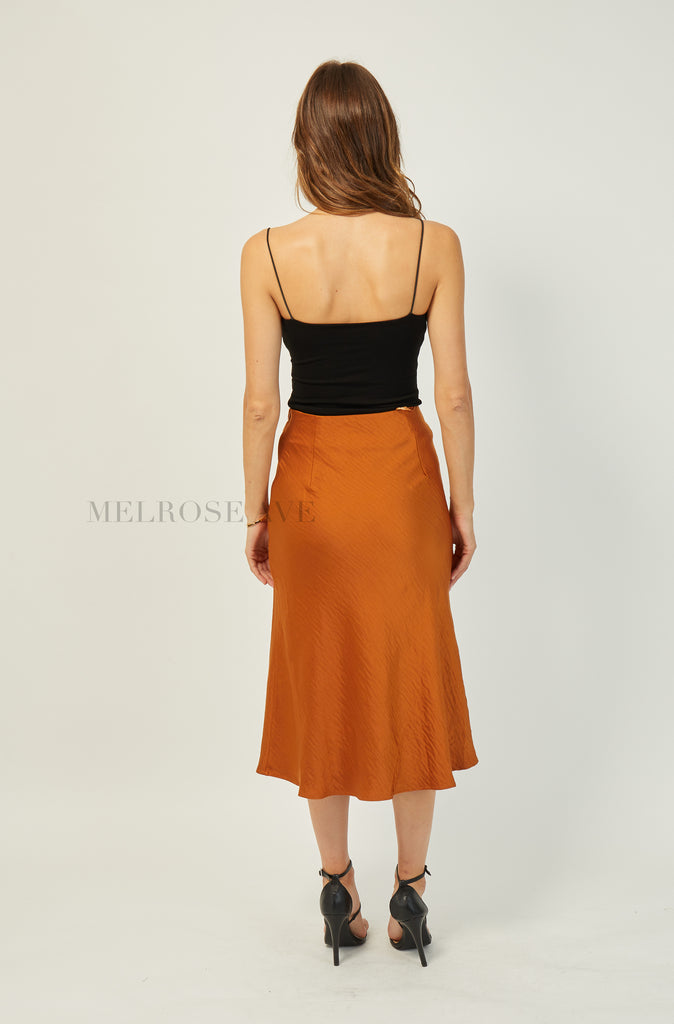 Monique Midi Skirt | Orange