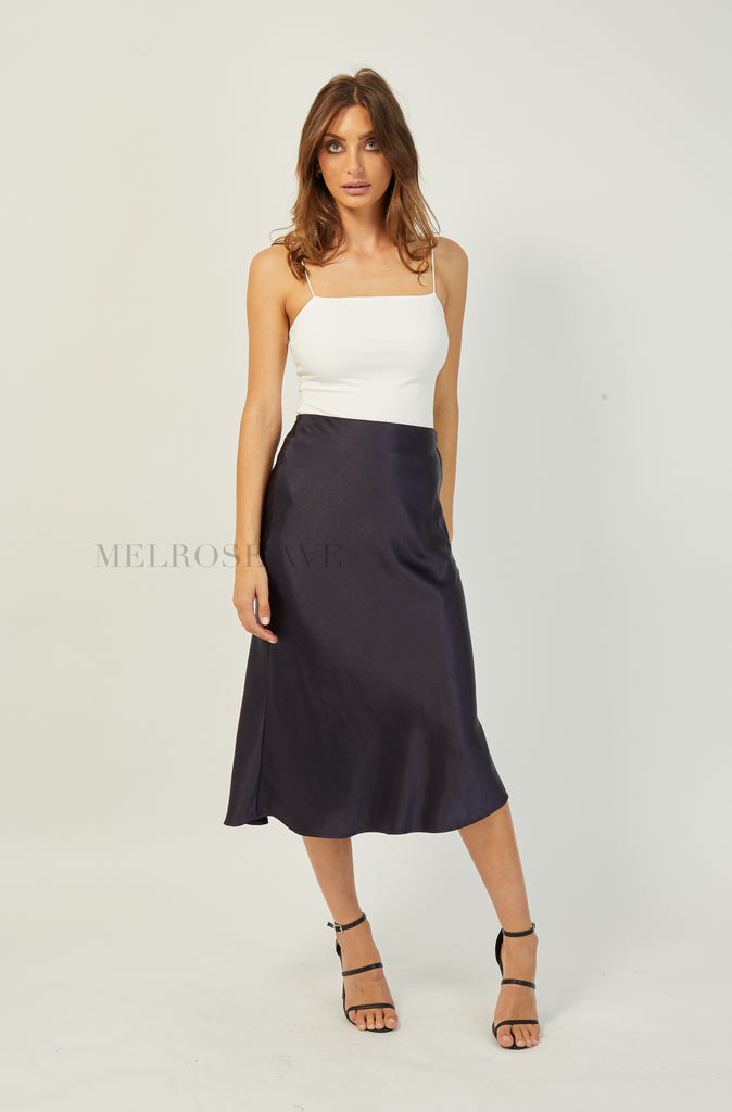 Monique Midi Skirt | Navy