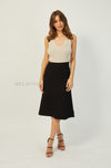 Abigail Midi Skirt | Black