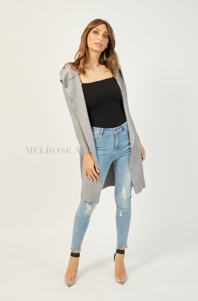Up All Night Hooded Cardi | Grey