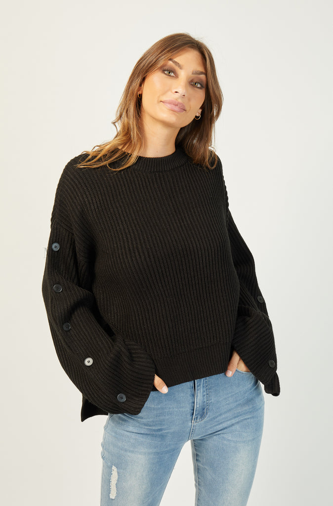 Bailey Knit Jumper | Black