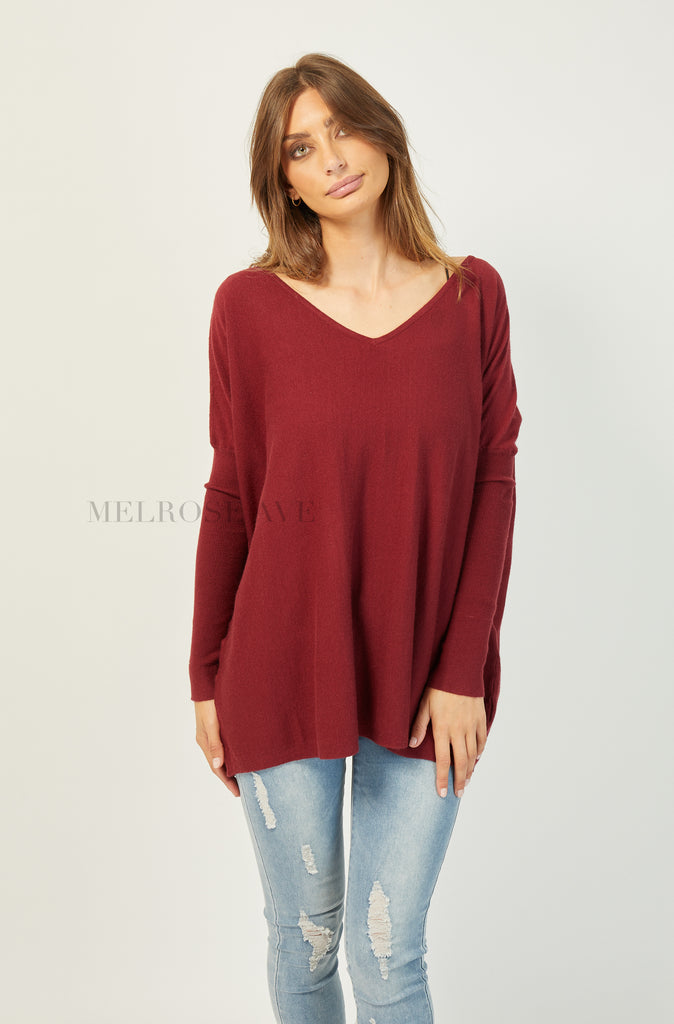 Back To Basic Jumper | V-neck