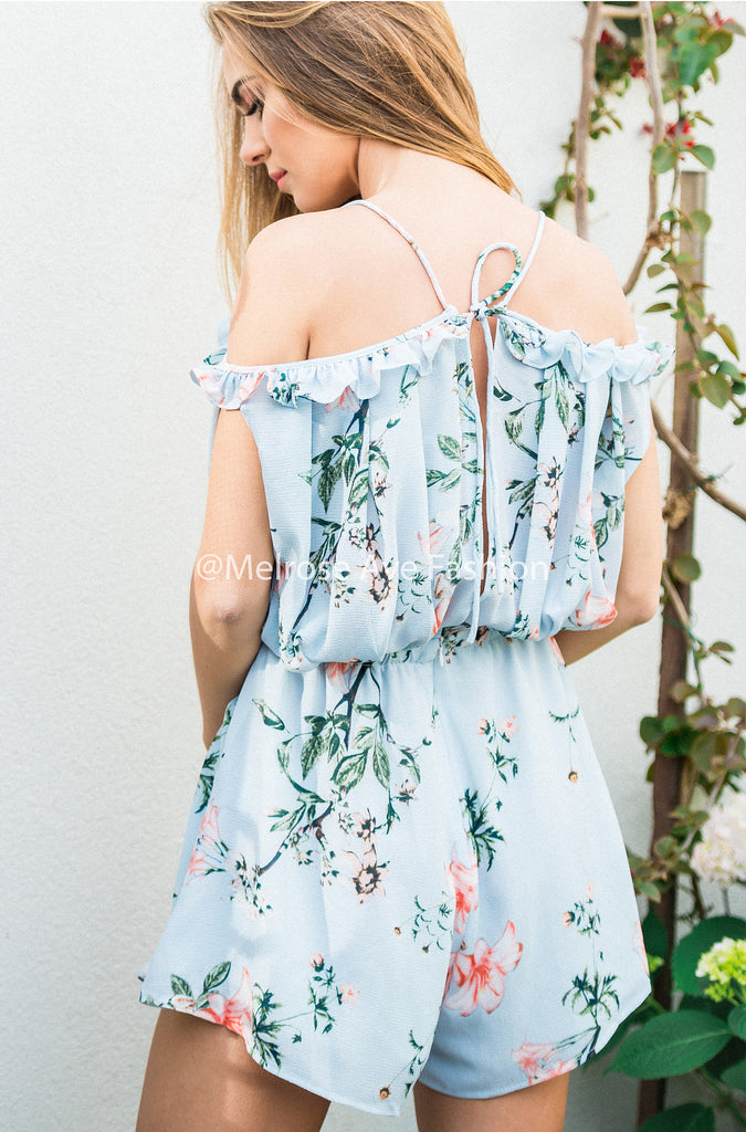 Better Than She Can Floral Playsuit