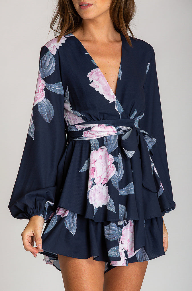 Joy Playsuit | Navy | Floral