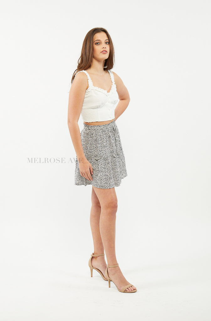 Kasey Mini Skirt | Polka Dot