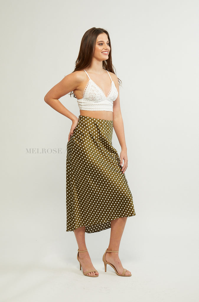 Avery Midi Skirt | Polka Dot