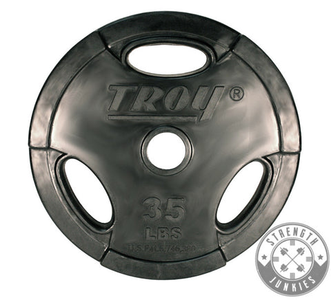 Troy Barbell Rubber Encased Grip Olympic Weight Plate Set  sc 1 st  Strength Junkies & Troy Barbell Rubber Encased Grip Olympic Weight Plate Set u2013 Strength ...