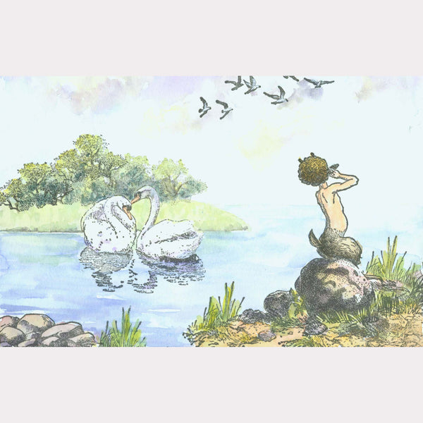 Pan and the Swans