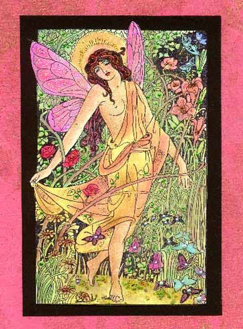 Framed Garden Fairy 592O