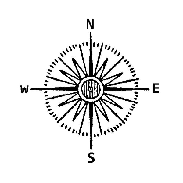 Mini Compass Rose 1719D