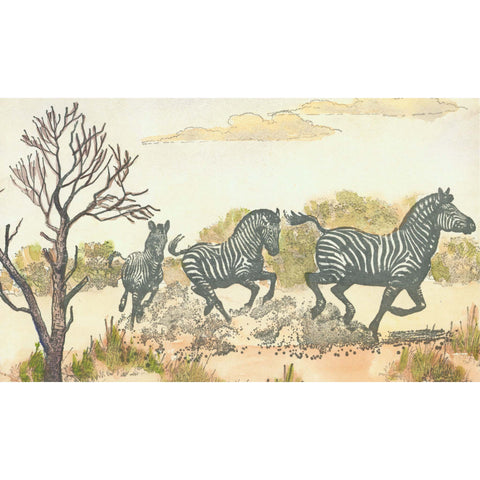 Running Zebras Large 1148O