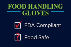 Food handling gloves check boxes