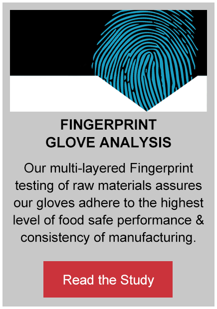 fingerprint glove analysis button