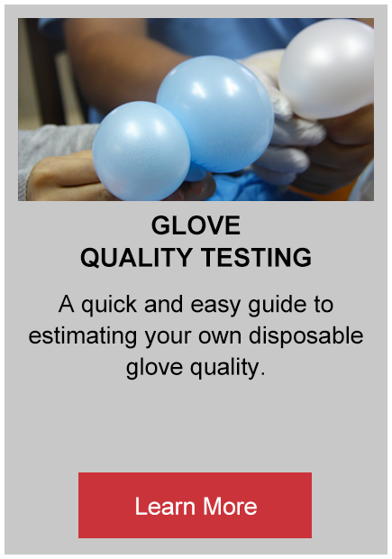 Glove quality testing buttons