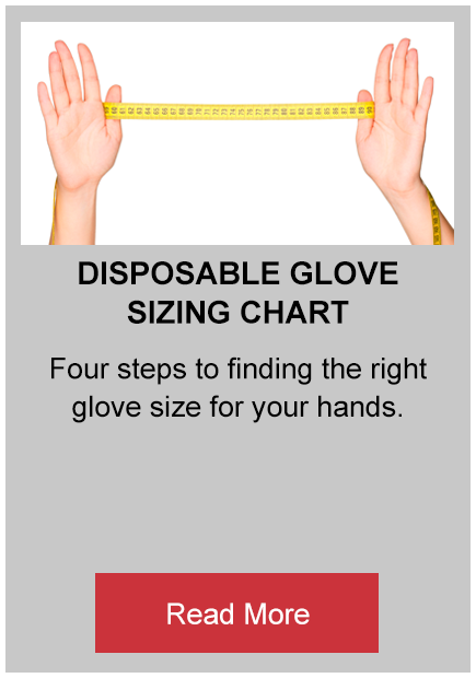 disposable glove sizing glove button