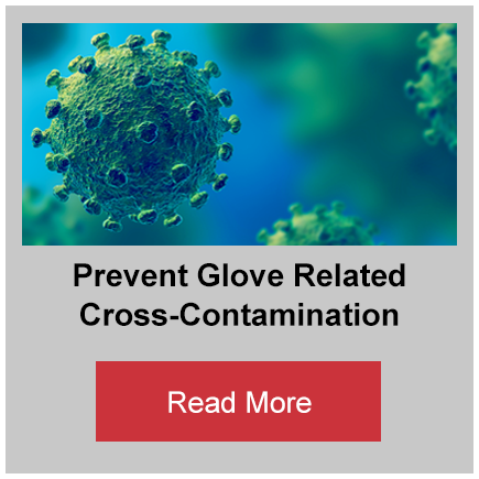 Prevent glove related cross-contamination button