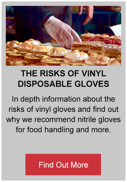 the risks of vinyl disposable gloves button