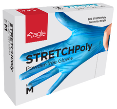 Blue STRETCHPoly Gloves in a Box