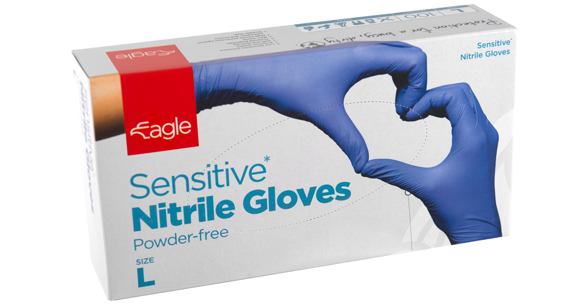 Sensitive* Nitrile Gloves Powder-free Disposable Gloves