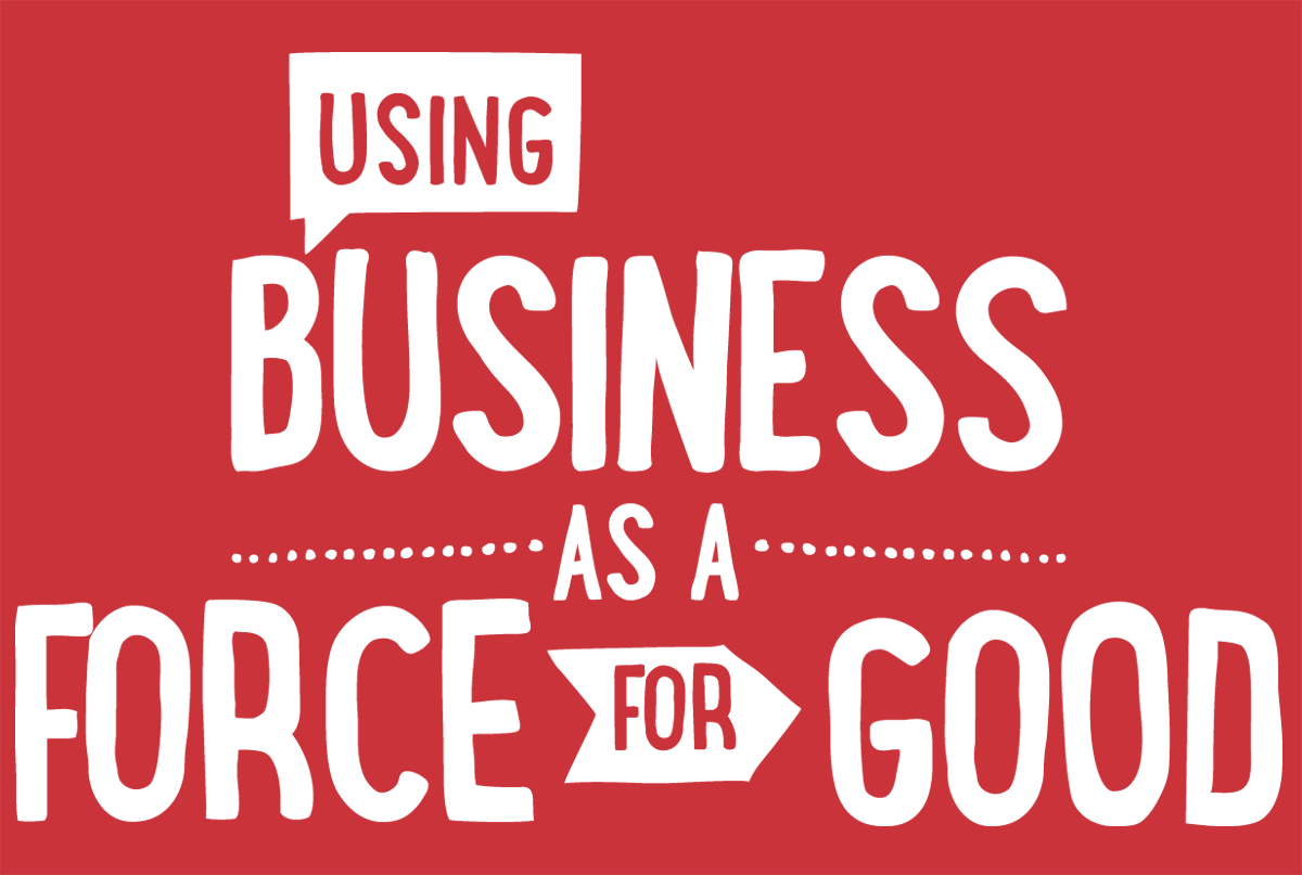 using business as a force for good logo